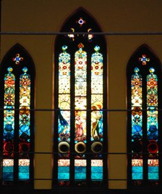 """Allen Window"" of First Church of Christ, Congregational, Pittsfield (facing Park Square)"