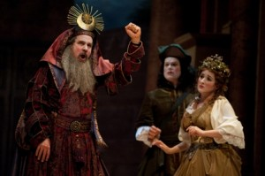 Charles Robert Stephens, Colin Balzer, and Yulia Van Doren in BEMF Centerpiece Opera production of Steffani's 'Niobe, Regina di Tebe' (photo by André Costantini)