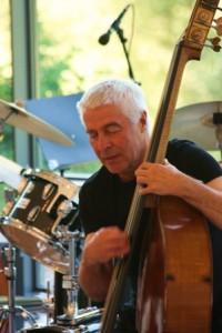 Bassist Barry Guy (photo by Seth Rogovoy)