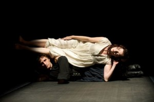 Pete Simpson and Tymberly Canale in Big Dance Theater's 'Supernatural Wife' (photo Christopher Duggan)