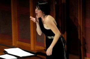 Soprano Amy Petrongelli performs John Chowning 'Voices' (photo Stu Rosner)