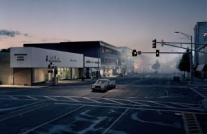 Artwork by Gregory Crewdson, made in downtown Pittsfield, Mass.
