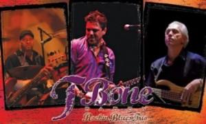 T Bone Daddy: (l-r) drummer Lou Parreault, frontman/guitarist Tyler Fairbank, and new bassist Jeff Link