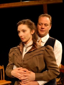 Allison McLemore (Adelaide) and Justin Campbell (George), photo by Rick Teller