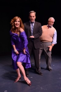 Colleen Zenk, Michael Rhodes and Steven Austin Young in Stageworks/Hudson's 2013 production of 'Looped' (Photo Rob Shannon)