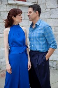 Christopher Innvar and Gretchen Egolf (photo Kevin Sprague)