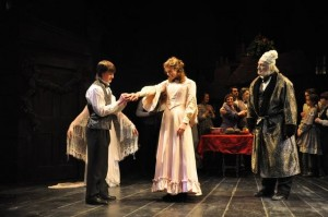 Rider Stanton, McKenna Powell and Eric Hill in Berkshire Theatre Festival's 2009 Unicorn production of 'A Christmas Carol' by Charles Dickens. (photo  Jaime Davidson)
