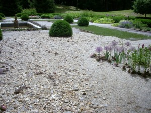 The Mount flower garden after the torrential storm