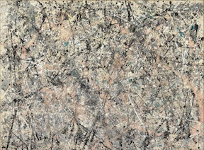Jackson Pollock (American, 1912–1956), Number 1, 1950 (Lavender Mist), 1950. Oil, enamel, and aluminum on canvas, 87 x 118 in. (221 x 299.7 cm). National Gallery of Art, Washington, D.C. Ailsa Mellon Bruce Fund, 1976.37.1   © 2014 The Pollock-Krasner Foundation / Artists Rights Society (ARS), New York