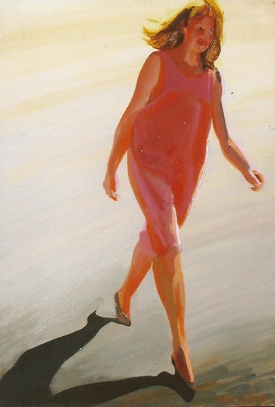 'Red Dress Crossing' by William Clutz