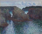 Claude Monet (French, 1840–1926), Rocks at Port-Goulphar, Belle-Île, 1886. Oil on canvas, 26 x 32 3/16 in. (66 x 81.8 cm). The Art Institute of Chicago. Gift of Mr. and Mrs. Chauncey B. Borland, 1964.210