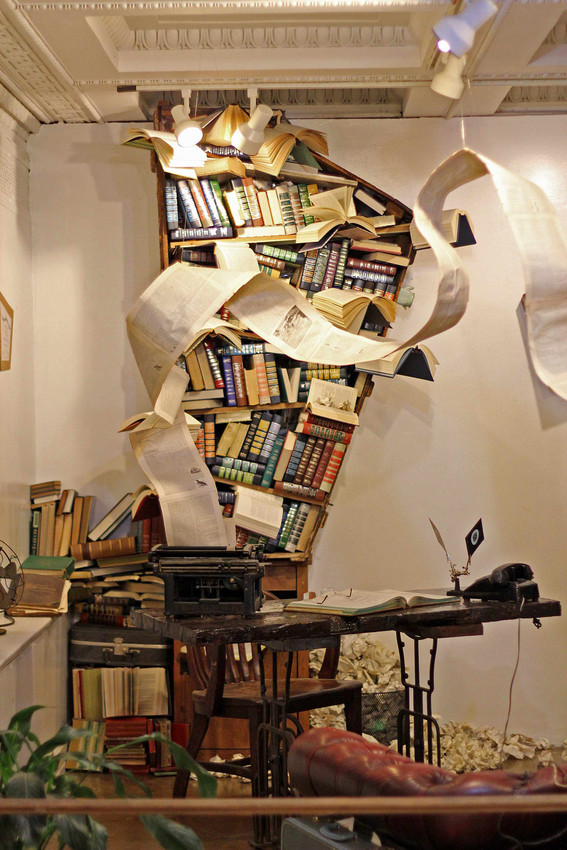 Jena Priebe, Diagnosis, 2012, Permanent installation at The Last Bookstore, Los Angeles, Calif.