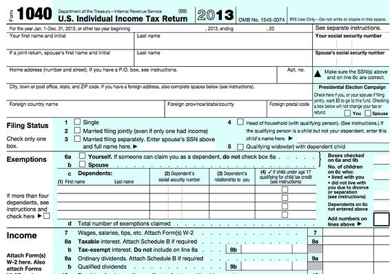 form 1040 | The Rogovoy Report