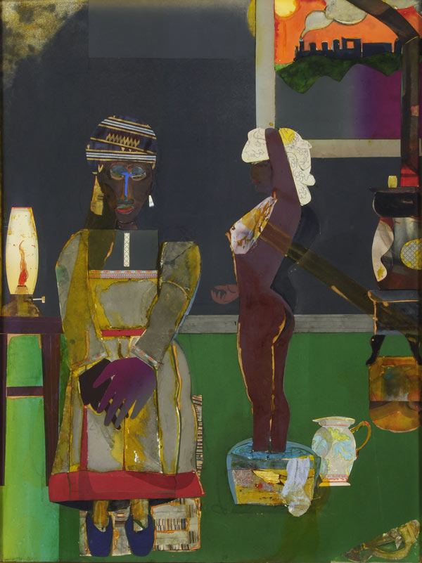 Romare Bearden, Prelude to Farewell, 1981, collage, 49 x 37 ¼ in., Courtesy The Studio Museum in Harlem, Gift of Altria Group, Inc.