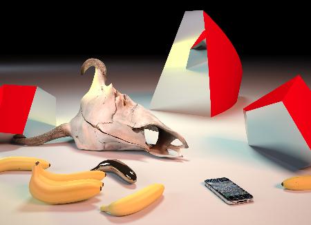 Takeshi Murata, Golden Bananas, 2011. Courtesy of artist, Ratio 3 and Salon 94