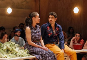 Bard Summerscape's 'Oklahoma,' with- Amber Gray, Laurey; and Damon Daunno, Curly (photo  Cory Weaver)