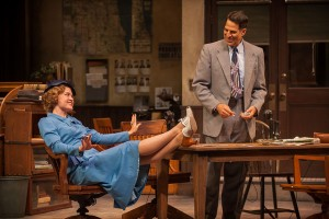 Jane Pfitsch and Christopher Innvar in 'His Girl Friday' at BSC (photo Kevin Sprague)