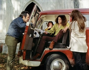 """The young Arlo Guthrie in a scene from """"Alice's Restaurant,"""" the film."""