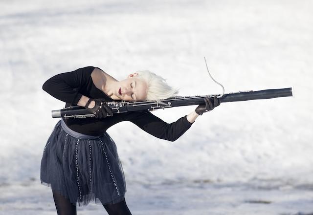 Rebekah Heller by Carrie Schneider h sleeping on oboe
