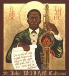 An iconic portrayal of John Coltrane