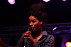 Joy Frempong of Filewile performing at Montreal Jazz (photo by Seth Rogovoy)