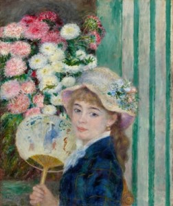 Pierre-Auguste Renoir (French, 1841–1919), Girl with a Fan, c. 1879. Oil on canvas, 65.4 x 54 cm. © Sterling and Francine Clark Art Institute, Williamstown, Massachusetts, USA, 1955.595
