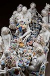 Chris Antemann's porcelain Feast of Impropriety (courtesy Ferrin Gallery)