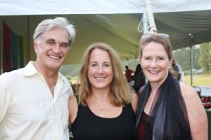 Newspaper editor Rex Smith, Calliope Nicholas and writer Marion Roach Smith attended last year's Millay Colony Open House (photo by Seth Rogovoy)