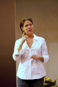 Maura Tierney in 'Three Hotels' at WTF (photo T. Charles Erickson)