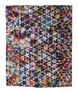 "Sean Riley, ""Tumbling Blocks,"" 2009, paper collage, 54"" x 44"""