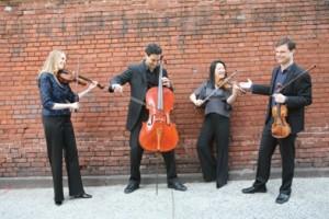 Daedalus Quartet (left to right: Jessica Thompson, viola; Raman Ramakrishnan, cello; Min-Young Kim, violin; Ara Gregorian, violin Photo credit: Janette Beckman )