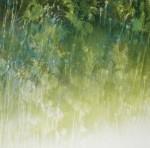 Deborah Weiss, 'Half Light Canopy,' woodcut unique