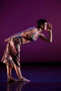Elena Demyanenko of Trisha Brown Dance Company in 'Foray Forêt' (photo Karli Cadel)