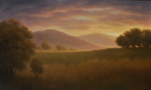 """Jane Bloodgood-Abrams, """"Light Over the Hill Days End"""""""