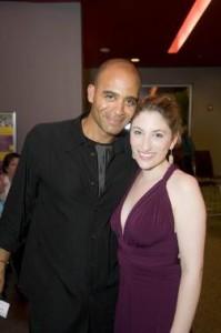 BSO cellist Owen Young with Deborah Grausman (photo Kevin Sprague)