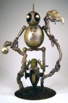 """The Inquisitive Nomad,"" Vincent Villafranca, 2011. Bronze sculpture currently on view in the Norman Rockwell Museum exhibition ""Robot Nation"" (Photo courtesy of Vincent Villafranca. All rights reserved.)"