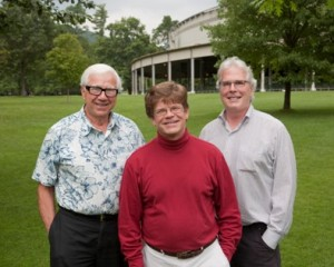 Broadcaster Ron Della Chiesa, producer Brian Bell, and sound engineer Jim Donahue (photo by Fred Collins)
