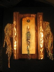 VESSEL OF LIGHT, Weaving-Mixed Media Assemblage, by Wendy A. Rabinowitz