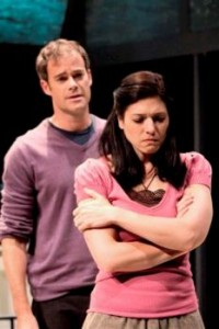 James Ludwig and Tara Franklin in Birthday Boy at the Unicorn Theatre presented by Berkshire Theatre Group (photo by Kevin Sprague)