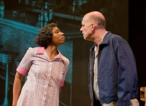 Aisha Hinds and John Bedford Lloyd in 'Best of Enemies' (photo by Kevin Sprague)