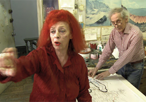 Jeanne-Claude and Christo from 'The Running Fence Revisited'