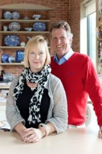 Fresh American CEO/creative director Annie Selke with newly named COO/president Bob White