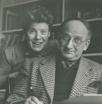 Margret and H. A. Rey, United States, late 1940s. H. A. & Margret Rey Papers, de Grummond Children's Literature Collection, McCain Library and Archives, The University of Southern Mississippi.