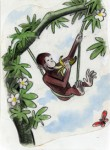 """H. A. Rey, final illustration for """"This is George. He lived in Africa,"""" published in The Original Curious George (1998), France, 1939–40, watercolor, charcoal, and color pencil on paper. H. A. & Margret Rey Papers, de Grummond Children's Literature Collection, McCain Library and Archives, The University of Southern Mississippi."""