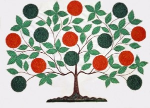 'The Tree of Life,' Hannah Cohoon, 1854, Andrews Collection at Hancock Shaker Village