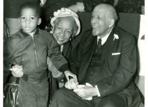 A young Arthur E. McFarlane with his great-grandfather, W.E.B. Du Bois.
