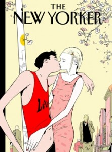 Istvan Banyai, Spring Is in the Air, 2002. New Yorker magazine cover, May 6, 2002. ©Istvan Banyai. All rights reserved.