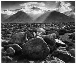 Mount Williamson, The Sierra Nevada, from Manzanar, California, 1945. Photograph by Ansel Adams. ©2012 The Ansel Adams Publishing Rights Trust
