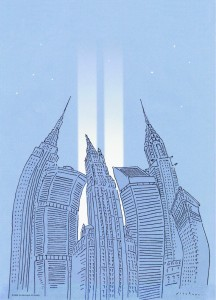 R. O, Blechman (b. 1930) Homage to The World Trade Center, 2006 For the Municipal Art Society