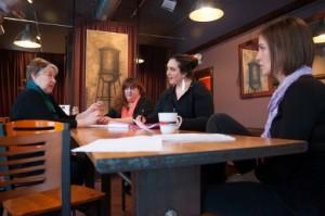 Sara Katzoff directs Barbara Cardillo, Joan Coombs, Kelly Galvin and Erin Ouellette.